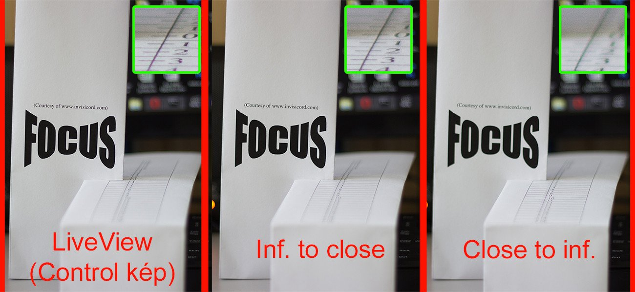 """Focus accuracy (""""kép"""" means """"image"""" in english)"""